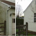 Cleaning house exterior - before and after