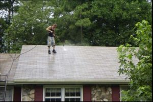 cleaning roof