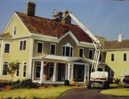 roof cleaning process